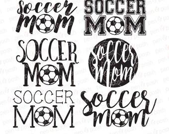 Soccer Mom SVG - Soccer Mom DXF - Soccer Mom Clipart - Soccer Mom Graphics - Soccer Mom Cut Files - Soccer SVG - Sport Mom