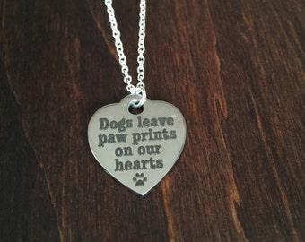 Dog, Dog Necklace, Dog Jewelry, Dog Pendant, I Love My Dog, Silver Dog Necklace, Puppy, Puppy Necklace, Silver Necklace, Necklace, Jewellery