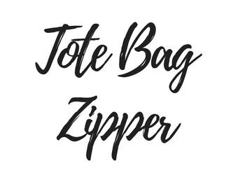 Add a Zipper to a Tote Bag