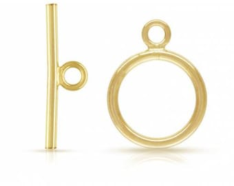 14Kt Gold Filled 11mm Toggle Clasp   - 5Sets 25% discounted Made in USA (4431)/5