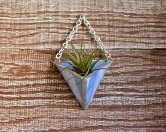 Stained Glass Air Plant Holder. Airplant Holder. Succulent. Home decor. Boho decor. Terrarium. Housewarming. Mother's Day. Birthday. Unique.