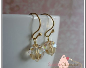 Swarovski Crystal Simplicity Ball Earrings