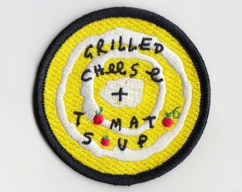 "Grilled Cheese + Tomato Soup (2.5"" Patch)"