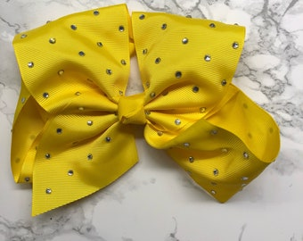 Yellow crystal bow