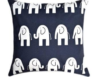 Navy Blue Pillow, Nursery Pillow, Nursery Decor, Elephant Pillow, Navy Blue Cushion Cover, Ele Navy Animal Pillow Cover, Decorative Pillow