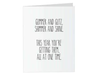 "Prank Glitter Birthday Card - ""Glimmer and Glitz"" Glitter Bomb Card"