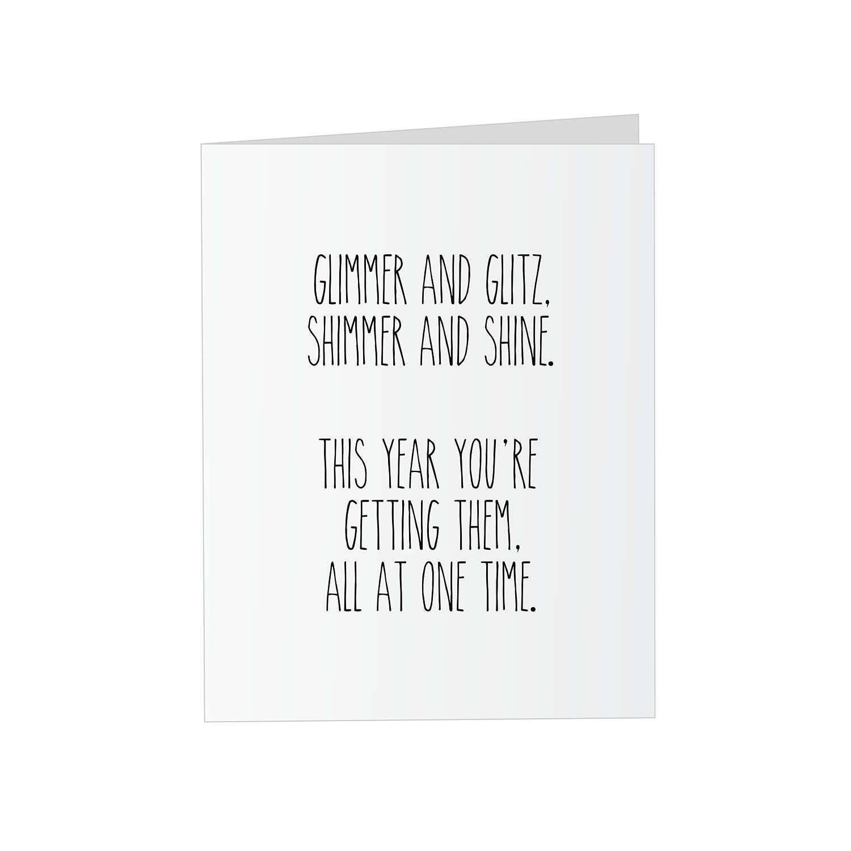 Prank Glitter Birthday Card Glimmer And Glitz