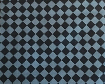 "tiles grey and black, 100% cotton, unisex fabric, 1 m (39 "")"