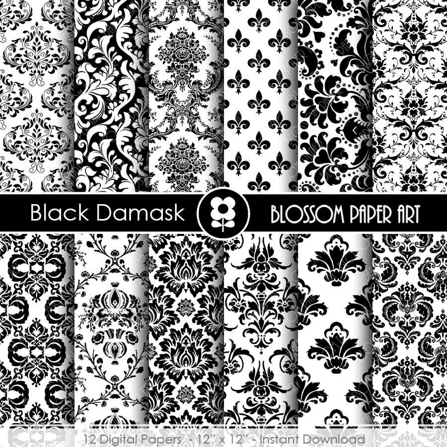 Papeles decorativos negro papel decorado para imprimir - Papel de pared blanco y negro ...