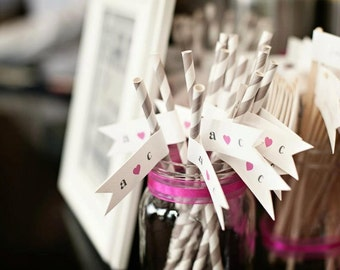 Wedding Straws/ Hen Party Straws/ Bachelorette Straws/ Bridal Shower Decor/ Hen Party/ Bride Tribe/ Stagette/ Bride To Be/ Bridal Shower