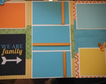 We Are Family So Blessed  Premade  12x12 Scrapbook Pages for your FAMILY  Boy GIRL Album