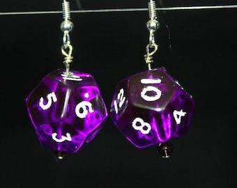 Purple D12 earrings