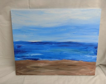16 x 20 Abstract Beach Landscape