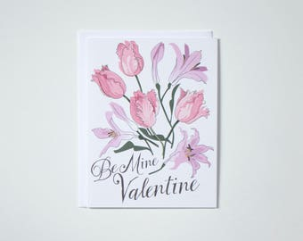 Be Mine Valentine Note Card