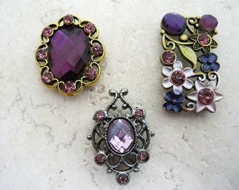 Passionate Purple 2-Hole Slider Beads DIY