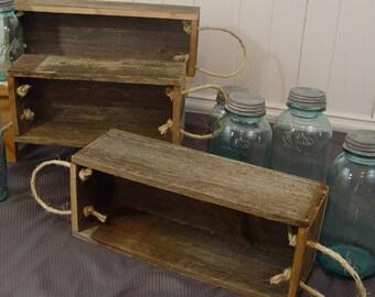 Cedar wood floral boxes, Rustic reclaimed wood planter box, rustic home decor, reclaimed wood, mason jar holder, wood planter box, 3 sizes