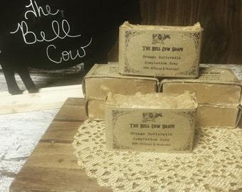 All-Natural Orange Buttermilk Complexion Soap, handmade soap, milk soap, buttermilk soap, orange soap, natural soap, all natural soap