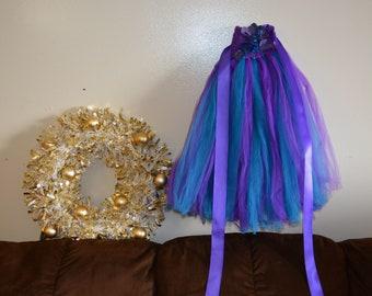 Flower girl dress. Purple and Teal TuTu Dress