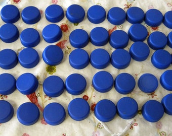 50 Blue Water Bottle Lids -Recycle-Reuse for Crafts  Jewelry Art Bottle Caps-Scouts, School Projects, Kid Crafts