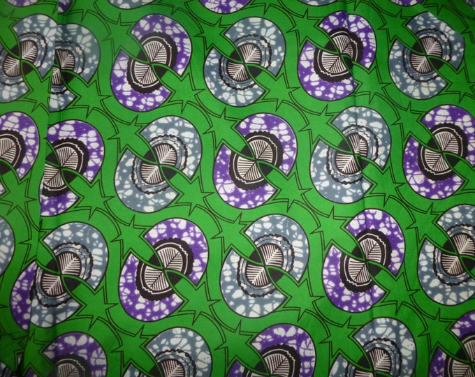 Block Wax Print Cotton Fabrics For Sewing/Kitenge Sold By The Yard pagne 152372100347
