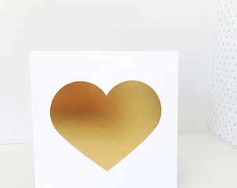 Gold Foil Heart Print 9x9, Home Decor, Wall Art, Nursery Artwork, Love, Valentine's Day