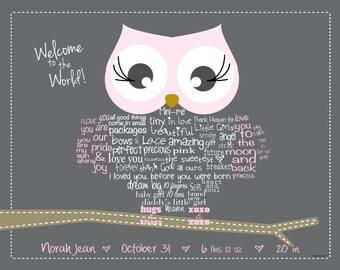 Owl baby gift etsy owl baby gift for boy custom baby gift for girl baby girl gift negle Choice Image