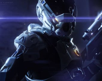 Mass effect Andromeda Scott Ryder cosplay costume made to order handmade armor