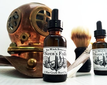 Siren's Folly - A Man Grade Beard Tonic ~ Beard Oil ~ All Natural ~ Vegan ~ Fair Trade ~