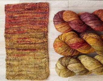 Hand Dyed Sock Yarn Superwash Merino - Single Merino Wool - Speckled yarn merino - Yarntoyou  - SKINNY MERINO - Sunny Collection