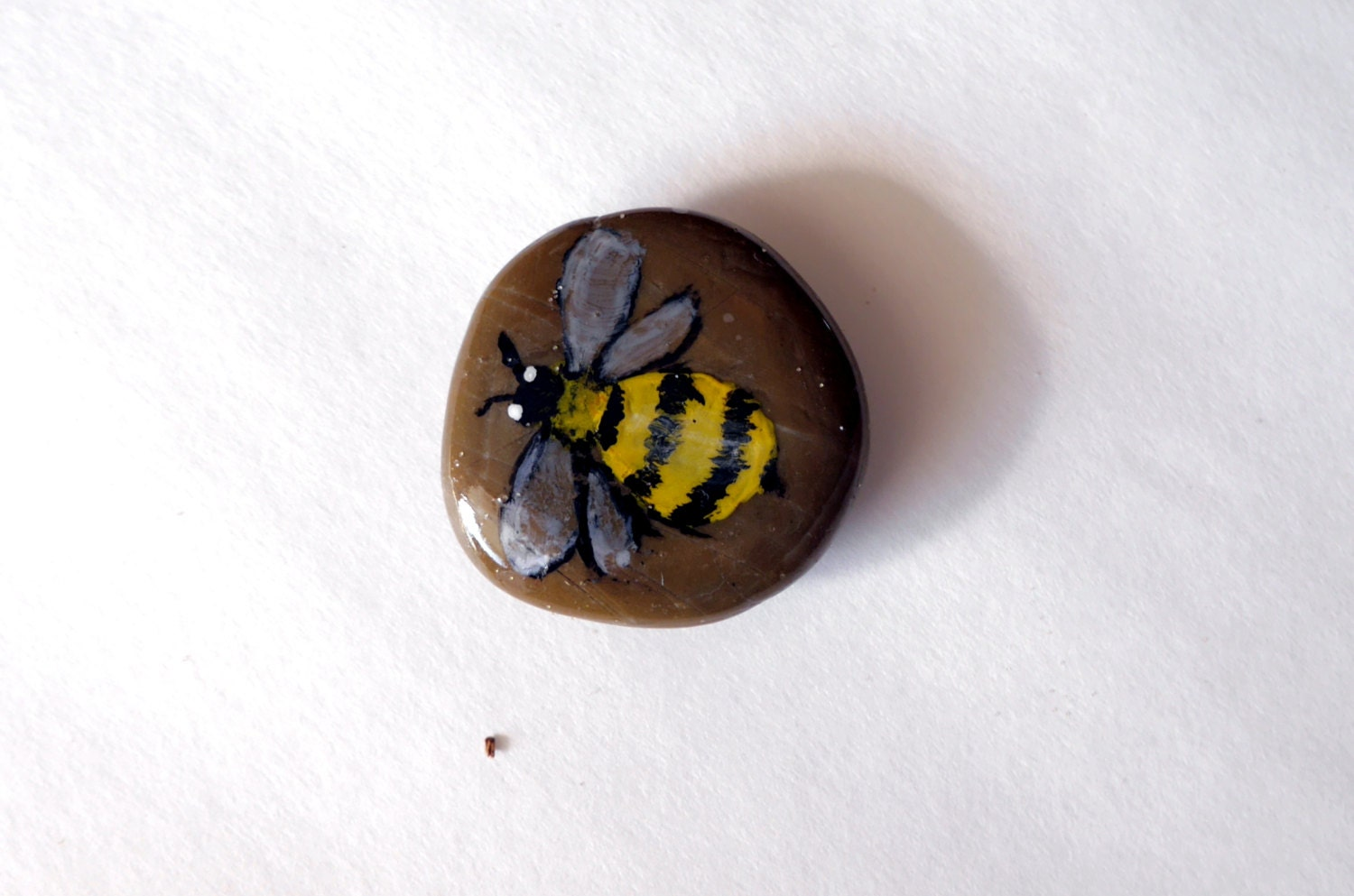 Bee Decor Bumble Stone Garden Pebbles Art