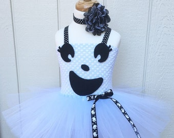 girls ghost costume - gift for girls - ghost tutu dress - baby girl costume - girls dress up - girls costume - toddler costume - girls dress