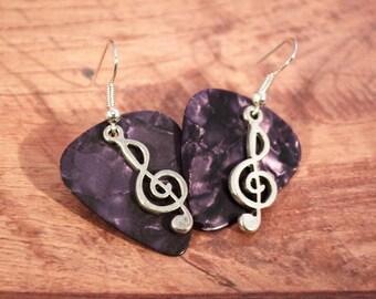 Guitar Pick Earrings, Guitar Jewelry, Guitar Earrings, Musical Earrings, Guitar Music, Guitar Music Earring, Music Jewelry, Music Earrings
