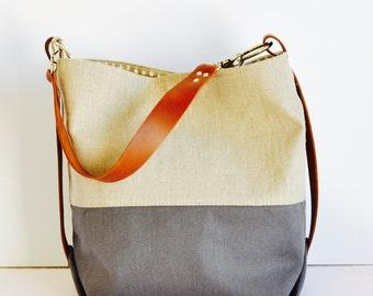 Shoulder Bag - Bucket bag - Diaper bag - Nappy bag - Mum's bag - large hobo bag - Weekender Bag - summer tote - handmade in Australia