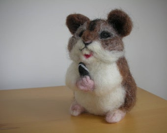 Hand Made Needle Felted Little Hamster