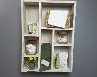 Cubby Shelf - White or Distressed