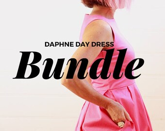 Vintage Style Dress pdf SewingPattern Bundle - Sewing Patterns -full back and cut out back versions - Womens Sewing Patterns -PDF Sewing