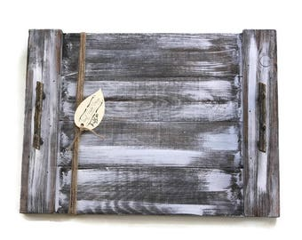 Rustic Wood Tray, Farmhouse Tray, Decorative Tray, Coffee Table Centerpiece, Appetizer Server, Rustic Serving Tray, Shabby Wood Tray