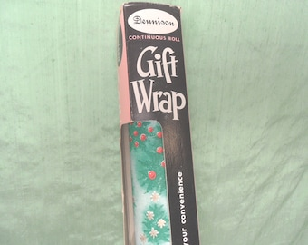 Dennison Gift Wrap in original box / vintage Christmas wrapping paper
