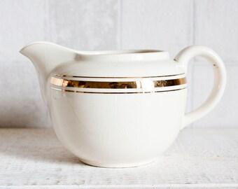 Lovely Little Vintage Villeroy & Boch White and Gold Creamer || Milk Porcelain Jug