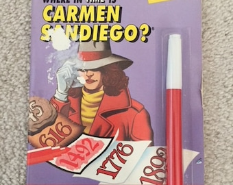 1991 Where In The World Is Carmen Sandiego Mark and See book