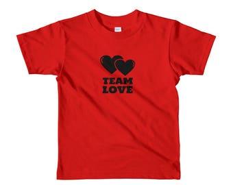 Team Love Short sleeve kids t-shirt