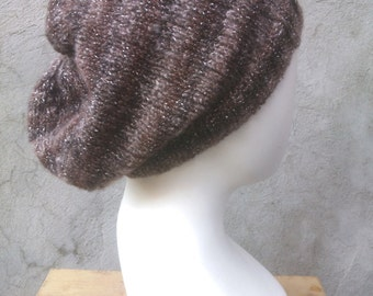 KNITTING PATTERN The perfect easy, slouchy, baggy beanie, knit baggy beanie, knit slouchy beanie, flat knit hat, knit hat pattern