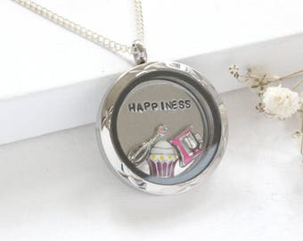 Baking Themed Necklace, Baker's Necklace, Baking Necklace, Food Lovers Jewelry, Gift for Food Lover, Grandma necklace, Christmas jewelry