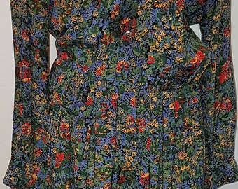 Mandy Marsh 1980's Vintage 1940's Style Floral Tea Dress
