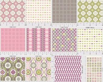 Fat quarter or half yard bundle 12 piece of Fontaine by P&B Textiles