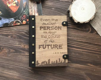 Lord of the rings tolkien quote Gift Notebook Wooden Notebook Personalized Journal Custom Hardcover custom journal personalize notebook