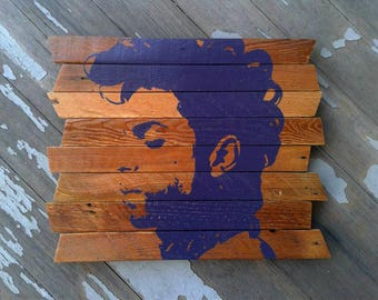 The Purple One Painting on reclaimed wood MTO - Prince - Prince Rogers Nelson - Purple Rain - Unique Prince gift