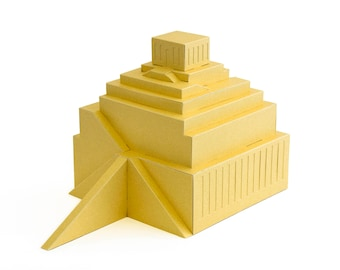 Tower of Babel || The Great Ziggurat of Babylon reconstruction version || school project paper model kit || choose from four colors