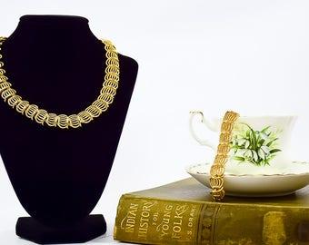 Vintage Trifari Jewelry Set - Vintage Necklace - Vintage Bracelet - Trifari Jewelry Set - Gift For Her - Mom Gift - Fashionista Gift