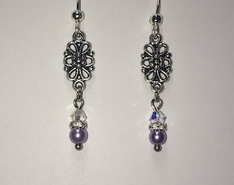 Filigree flower dangles